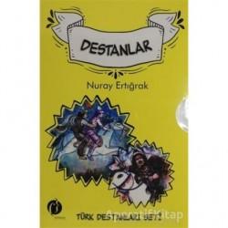Türk Destanları Seti (5 Kitap Takım) - Nuray Ertığrak - Herdem Kitap